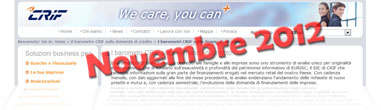 Barometro CRIF Novembre 2012: dati sulla domanda di prestiti delle famiglie