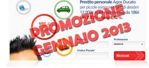 Offerte prestiti Agos Ducato in promozione a Gennaio 2013