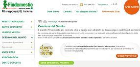 Offerta Cessione del Quinto dello Stipendio o della Pensione Findomestic/Bieffe5 di Gennaio 2013