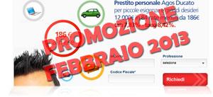 Offerte prestiti Agos Ducato in promozione a Febbraio 2013