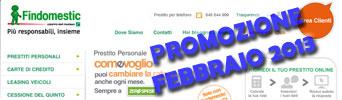 Promozione prestiti Findomestic Come Voglio in offerta a Febbraio 2013