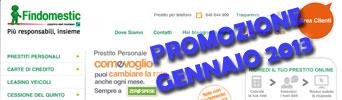 Promozione prestiti Findomestic Come Voglio in offerta a Gennaio 2013