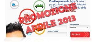Offerte prestiti Agos Ducato in promozione ad Aprile 2013