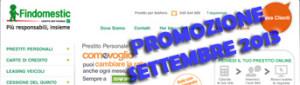 Promozione prestiti personali Findomestic Come Voglio in offerta a Settembre 2013