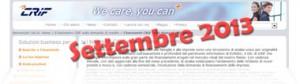 Barometro CRIF Settembre 2013: dati sulla domanda di prestiti delle famiglie