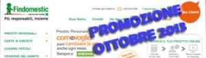 Promozione prestiti personali Findomestic Come Voglio in offerta a Ottobre 2013