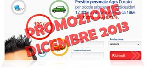 Promozioni prestiti Agos Ducato Duttilio Offerta Dicembre 2013