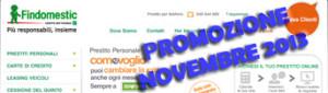 Promozione prestiti personali Findomestic Come Voglio in offerta a Novembre 2013