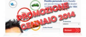 Promozioni prestiti Agos Ducato Duttilio Offerta Gennaio 2014