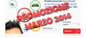 Promozioni prestiti Agos Ducato Duttilio Offerta Marzo 2014