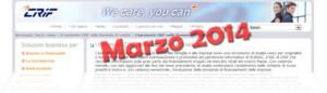 Barometro CRIF Marzo 2014: dati sulla domanda di prestiti delle famiglie