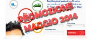 Promozioni prestiti Agos Ducato Duttilio Offerta Maggio 2014
