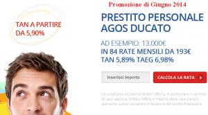 Promozioni prestiti Agos Ducato Duttilio Offerta Giugno 2014