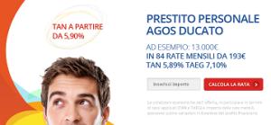 Offerta prestito personale Agos Ducato Agosto 2014 - Duttilio prestito flessbile