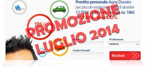 Promozioni prestiti Agos Ducato Duttilio Offerta Luglio 2014