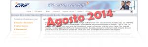 Barometro CRIF prestiti personali e finalizzati Agosto 2014