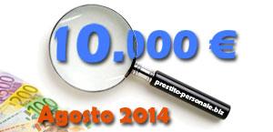 Confronto preventivi migliori prestiti da 10000 euro ad Agosto 2014