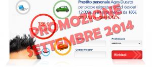 Offerta prestito personale flessibile Agos Ducato e Duttilio - Offerta Settembre 2014
