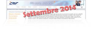 Barometro CRIF prestiti personali e finalizzati Settembre 2014