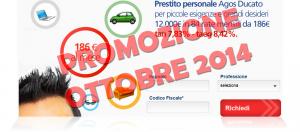 Offerta prestito personale flessibile Agos Ducato e Duttilio - Offerta Ottobre 2014