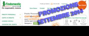 Prestito Personale Flessibile Come Voglio di Findomestic Banca - Offerta di Settembre 2014