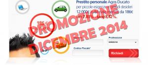 Offerta prestito personale flessibile Agos Ducato e Duttilio - Offerta Dicembre 2014
