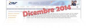 Barometro CRIF prestiti personali e finalizzati Dicembre 2014