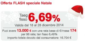 Offerta Flash Natale 2014 Findomestic Banca - Prestito Personale Come Voglio