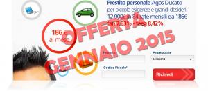 Offerta prestito personale flessibile Agos Ducato e Duttilio - Offerta Gennaio 2015