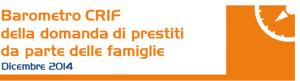 Barometro CRIF prestiti personali e finalizzati Gennaio 2015