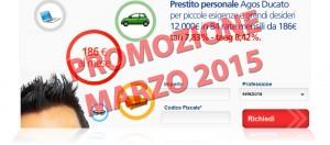 Offerta prestito personale flessibile Agos Ducato e Duttilio - Offerta Marzo 2015