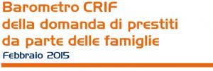 Barometro CRIF prestiti personali e finalizzati Marzo 2015