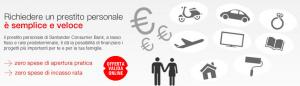 Prestito Personale Adatto di Santander Consumer Bank - Offerta Online di Settembre 2015