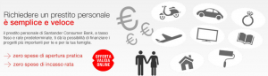 Prestito Personale Adatto di Santander Consumer Bank - Offerta Online di Gennaio 2016