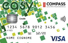Carta Compass Easy: Rata Fissa e Zero Spese